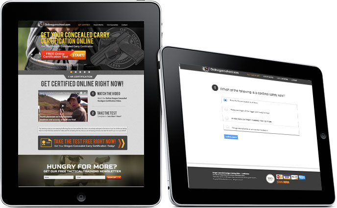 online gun certification website